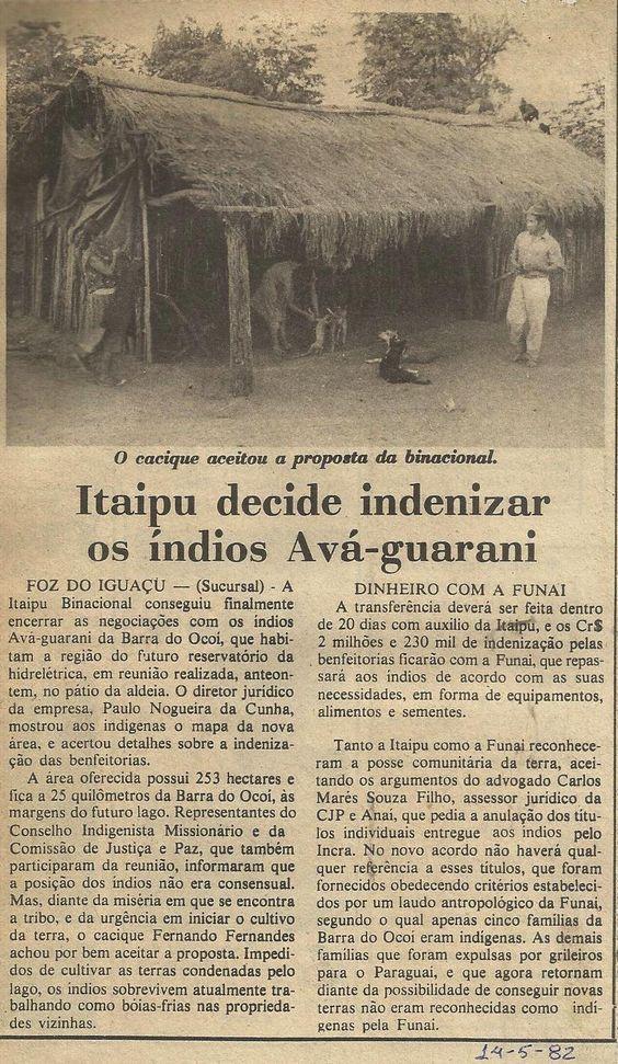 Itaipu - Indígenas indenizados