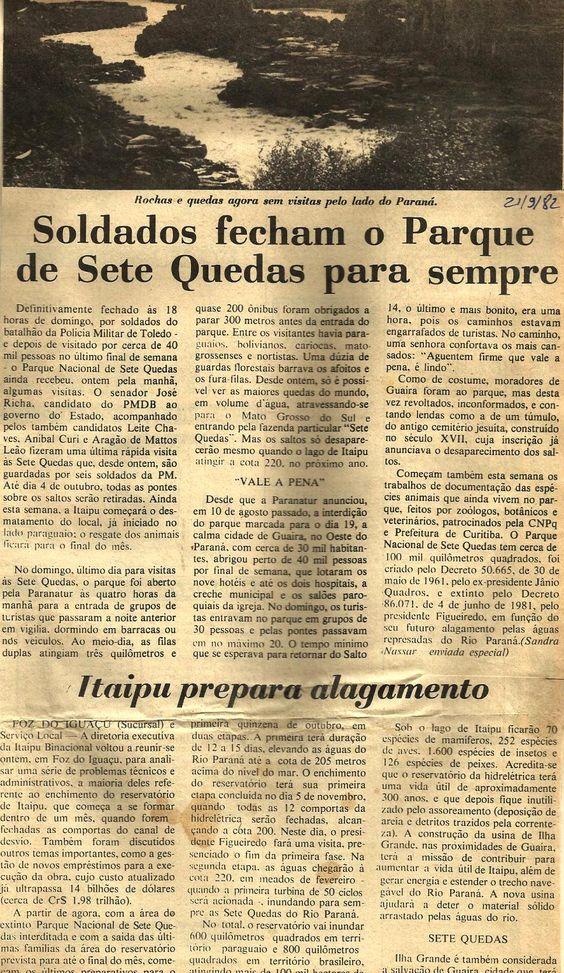 Inauguração de Itaipu