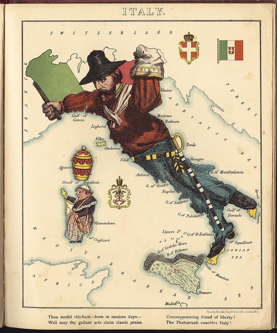 charge sobre a unificação italiana