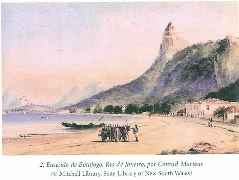 Rio durante a visita de Darwin ao Brasil