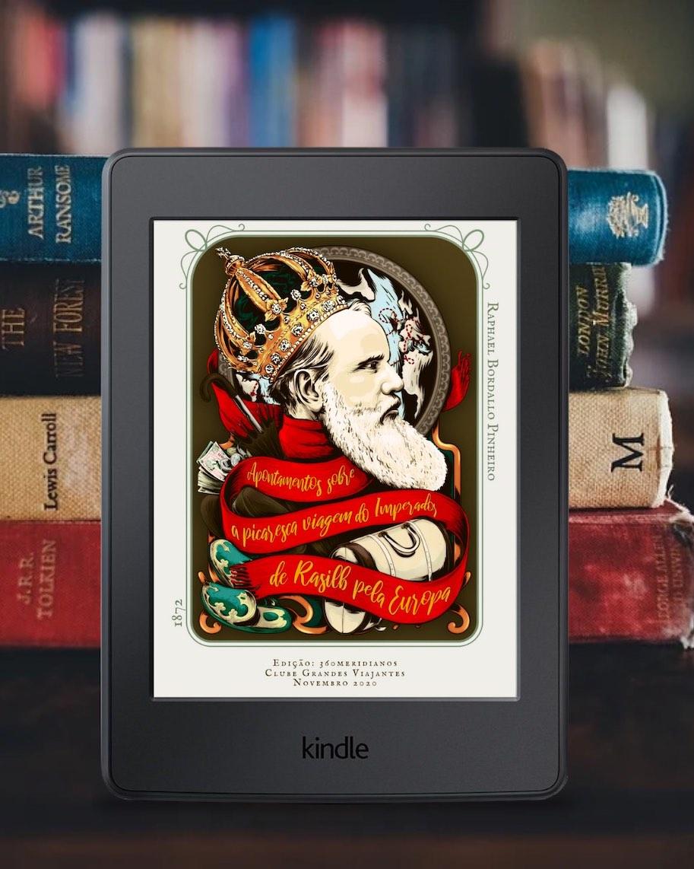 capa do livro viagens do imperador de rasilb 360meridianos