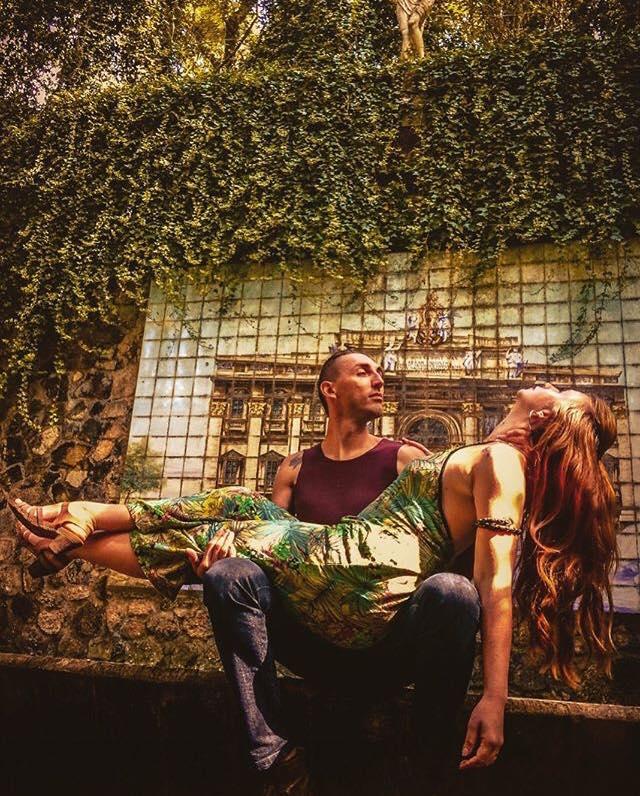 homem e mulher ensaio fotográfico músicos