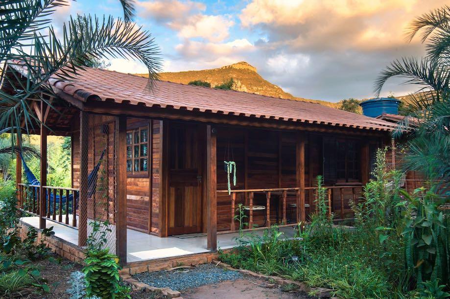 Casa de madeira no vale do Capão - Airbnbs na Chapada Diamantina