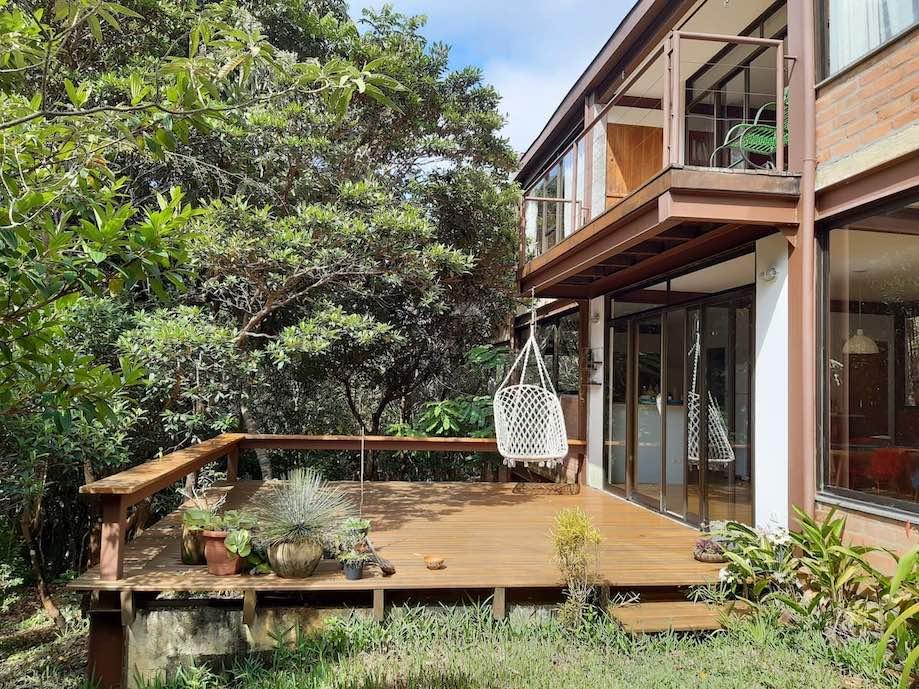 Casa com vista para as montanhas da Chapada Diamantina no Vale do Capão