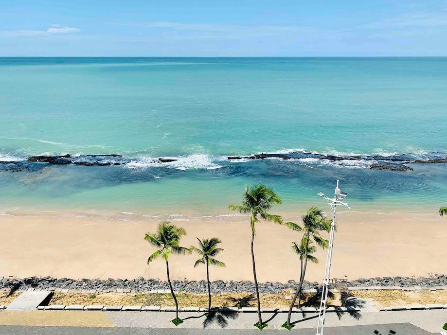 Vista de apartamento para alugar em Recife, praia de Boa Viagem