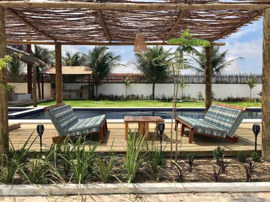 piscina casa luxuosa na praia preá airbnb jericoacoara