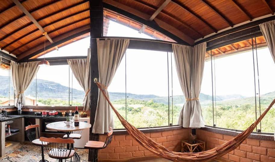 chale romantico airbnb serra do cipo minas gerais