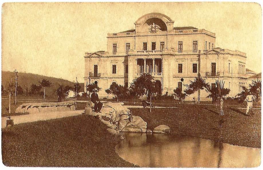 Praça da Liberdade, BH, na inauguração da cidade (foto antiga)