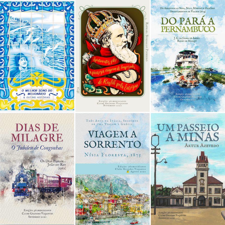 capas dos livros clube grandes viajantes