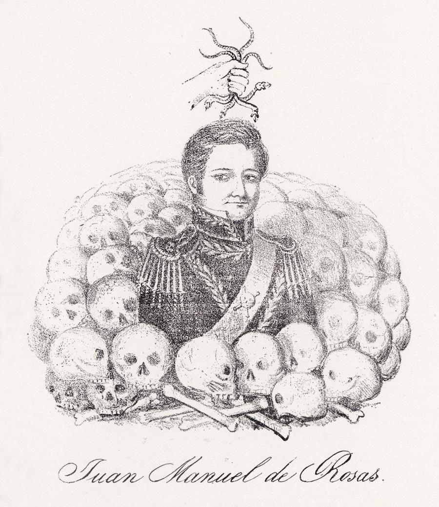 caricatura anti rosista misterios do prata
