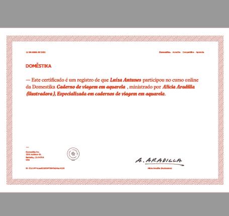 certificado curso online domestika
