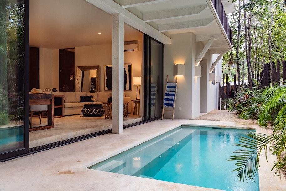 apartamento temporada em tulum com piscina