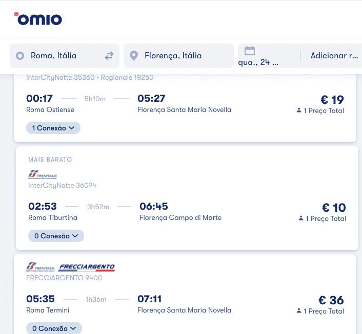 comprar passagens de trem europa comparacao