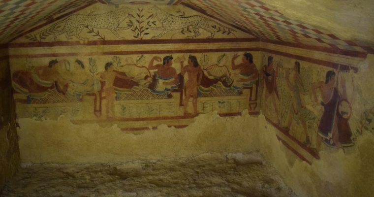 tarquinia italia necropoli etrusca tumba grande